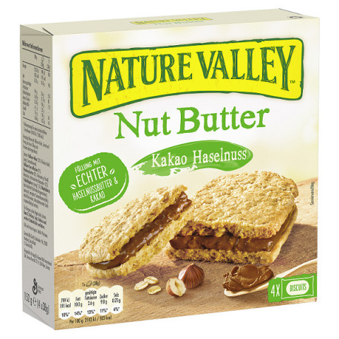 Nature Valley Nut Butter Kakao-Haselnuss Riegel 4x 38 g