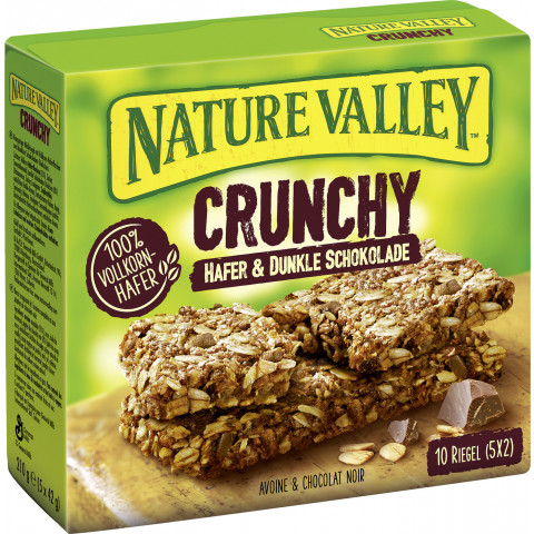 Nature Valley Crunchy Hafer & Dunkle Schokolade Riegel 5x 42 g