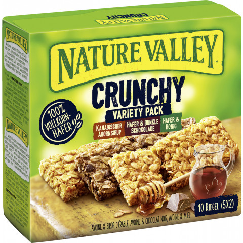 Nature Valley Crunchy Variety Pack Riegel 5ST 210G