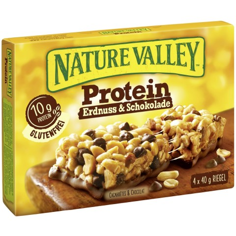 Nature Valley Protein Erdnuss & Schokolade Riegel 4ST 160G