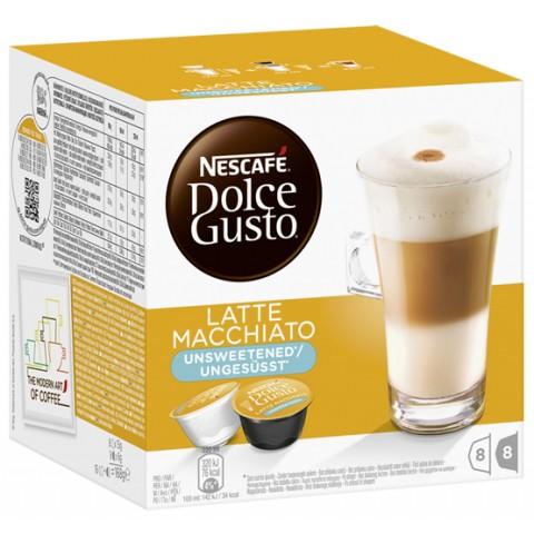 Nescafé Dolce Gusto Latte Macchiato Ungesüsst Kapseln 8x 21 g
