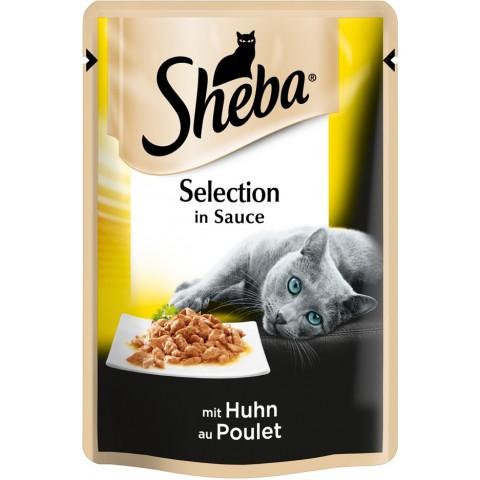 Sheba Selection in Sauce mit Huhn Katzenfutter nass Beutel 85 g