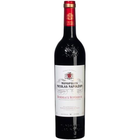 Monopoles Nicolas Napoléon Bordeaux Superieur Rotwein 2017 0,75 ltr