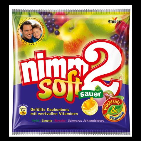 nimm2 Fruchtkaubonbons Soft sauer 195 g
