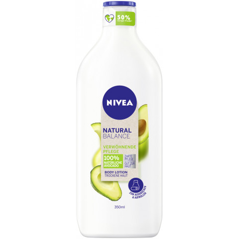 Nivea Body Natural Balance Verwöhnende Pflege Avocado Lotion 350ML