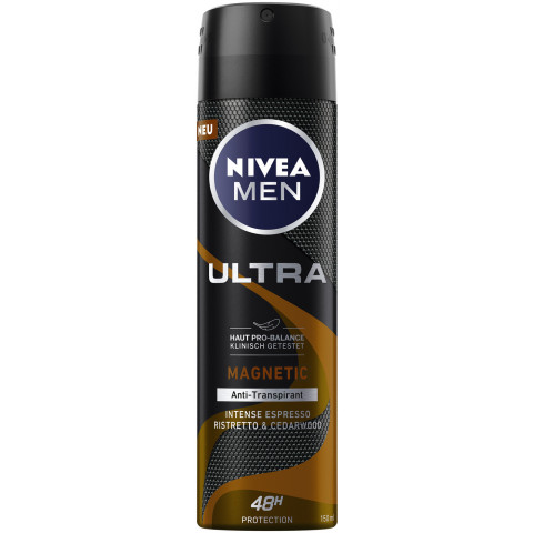 Nivea Men Deo Spray Ultra Magnetic Intense Espresso Ristretto & Cedarwood 150ML