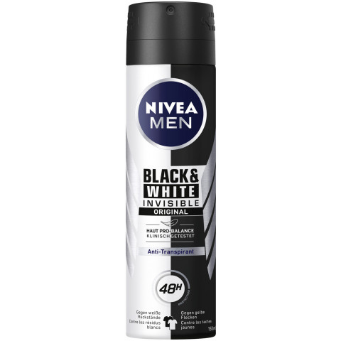 Nivea Men Deospray Black & White Invisible Original Antitranspirant 150ML