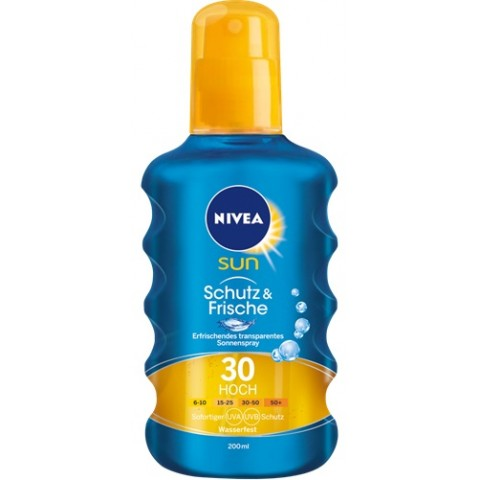 Nivea Sun Schutz & Frische transparentes Sonnenspray LSF 30