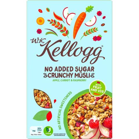 Kelloggs No Added Sugar Crunchy Müsli Apple, Carrot & Raspberry 380 g