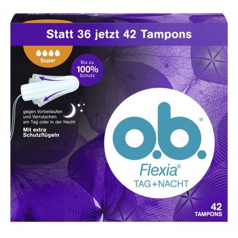 o.b. Flexia Tag+Nacht Tampons Super