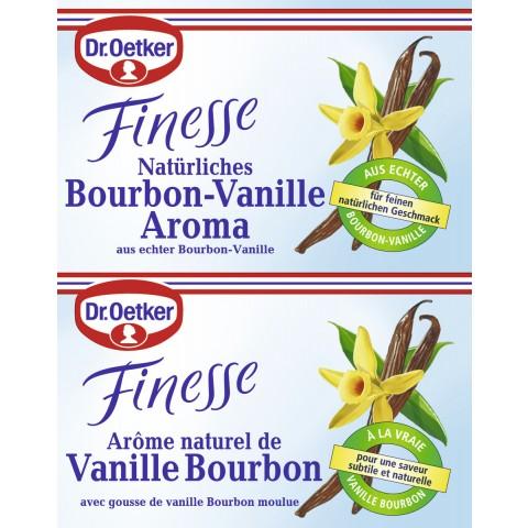 Dr.Oetker Finesse natürliches Bourbon-Vanille Aroma 2x 5 g