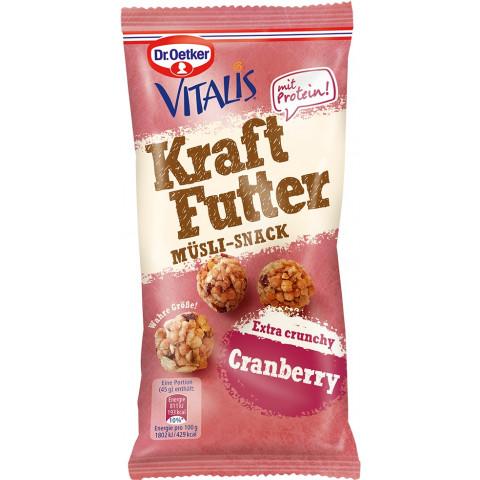 Dr.Oetker Vitalis Kraftfutter mit Protein Cranberry 45 g