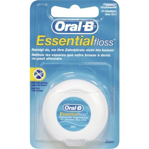 Oral-B Zahnseide Essential Floss ungewachst 50m 1 Stück