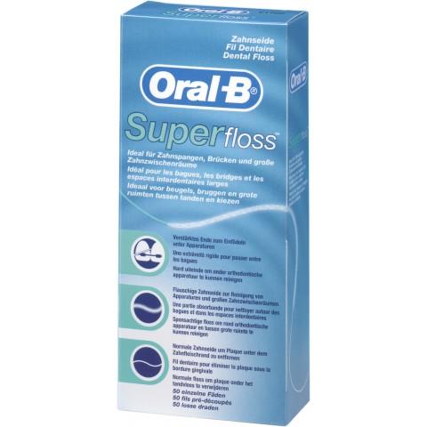 Oral-B Superfloss Zahnseide 50 einzelne Fäden 1 Stück