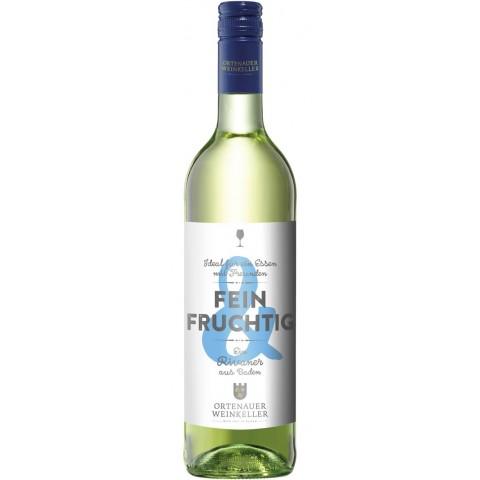 Ortenauer Weinkeller Fein & Fruchtig Rivaner feinherb 2019 0,75 ltr