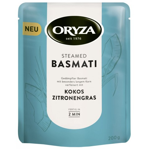 Oryza Steamed Basmati Kokos Zitronengras 200 g