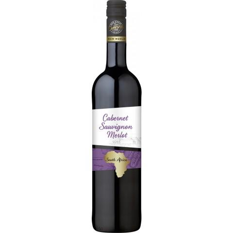 OverSeas Südafrika Cabernet Sauvignon Merlot Rotwein 2018 0,75 ltr