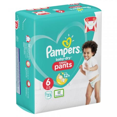 Pampers Baby-Dry Nappy Pants Gr. 6 15+kg 23 Stück