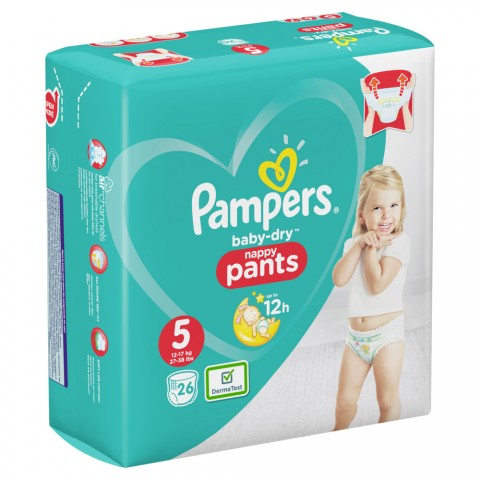 Pampers Baby-Dry Nappy Pants Gr. 5 12-17 kg 26 Stück