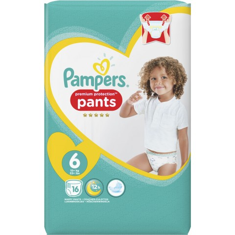 Pampers Premium Protection Pants Gr. 6 15+kg 16 Stück