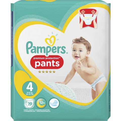 Pampers Premium Protection Pants Gr. 4 9-15 kg 19 Stück