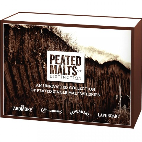 Peated Malts of Distinction Whisky Miniatur Collection 4x 50 ml