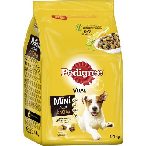 Pedigree Vital Protection Mini adult <10kg mit Huhn und Gemüse 1,4KG