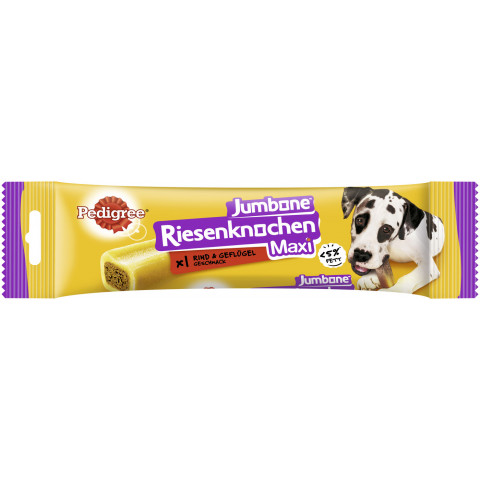 Pedigree Jumbone Riesenknochen Maxi Rind- & Geflügel-Geschmack 180G