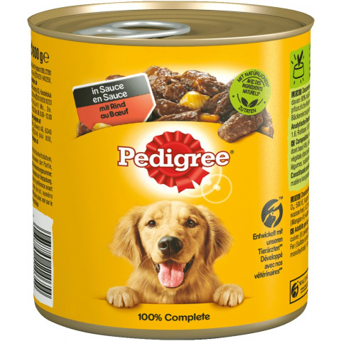 Pedigree mit Rind in Sauce Hundefutter nass 800G