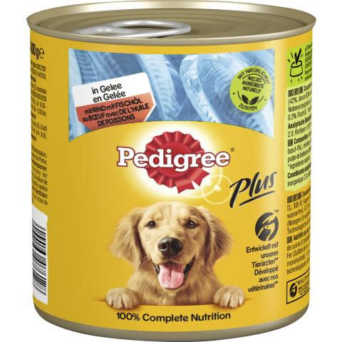 Pedigree Plus mit Rind & Fischöl in Sauce Hundefutter nass 800G