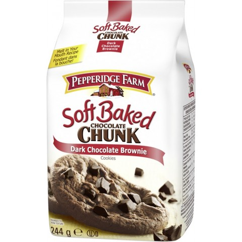 Pepperidge Farm Soft Baked Chocolate Chunk Dark Chocolate Brownie Cookies