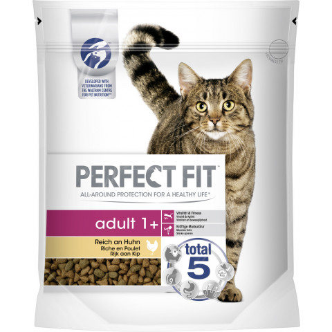 Perfect Fit adult 1+ Reich an Huhn Katzenfutter trocken 0,75 kg