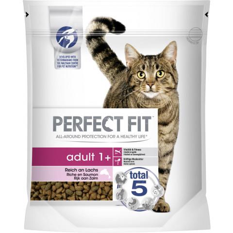 Perfect Fit adult 1+ Reich an Lachs Katzenfutter trocken 0,75 kg