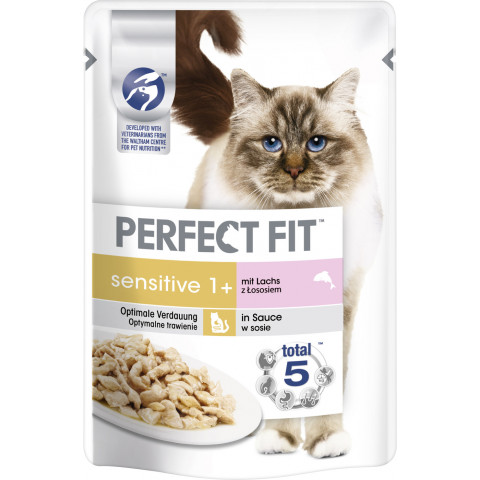 Perfect Fit Sensitive 1+ Lachs Katzenfutter nass 85G