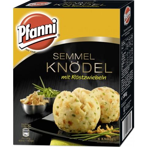 Pfanni Semmel Knödel mit Röstzwiebeln im Kochbeutel - 6 Knödel 200 g