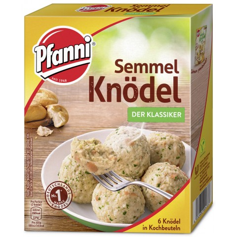 Pfanni Semmelknödel der Klassiker im Kochbeutel - 6 Knödel 200 g
