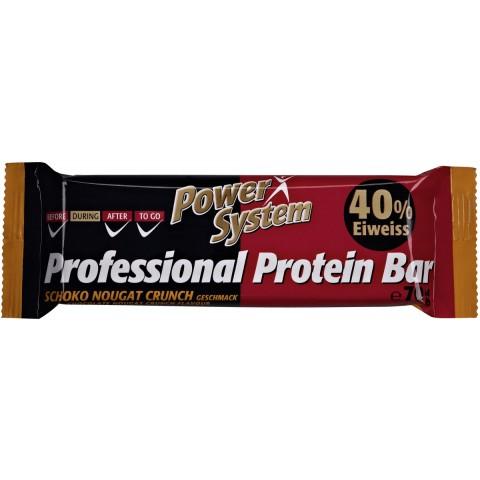 Power System Professional Protein Bar Schoko Nougat Crunch Geschmack 40% Eiweiss