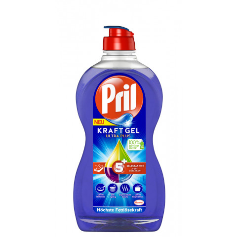 Pril Kraft-Gel Ultra Plus 5+ Handspülmittel 450ML
