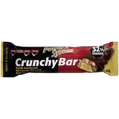 Power System Crunchy Bar Vanille Geschmack 32% Eiweiss