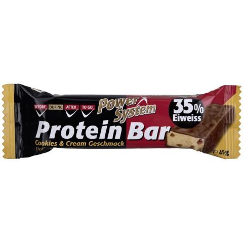 Power System Protein Bar Cookies & Cream Geschmack 35% Eiweiss