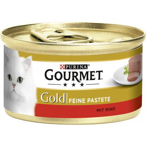 Purina Gourmet Gold Feine Pastete mit Rind Katzenfutter nass 85 g