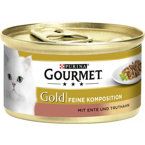 Purina Gourmet Gold mit Ente & Truthahn Katzenfutter nass 85 g