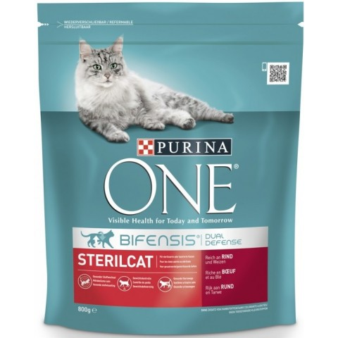 One Cat Bifensis Sterilcat reich an Rind & Weizen Trockenfutter für Katzen