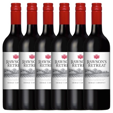 Penfolds 6x Rawsons Retreat Shiraz Cabernet Rotwein  2016
