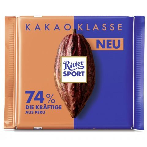 Ritter Sport Peru Die Kräftige 74% Kakao 100 g