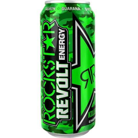 Rockstar Revolt Killer Citrus Energydrink 0,5 ltr