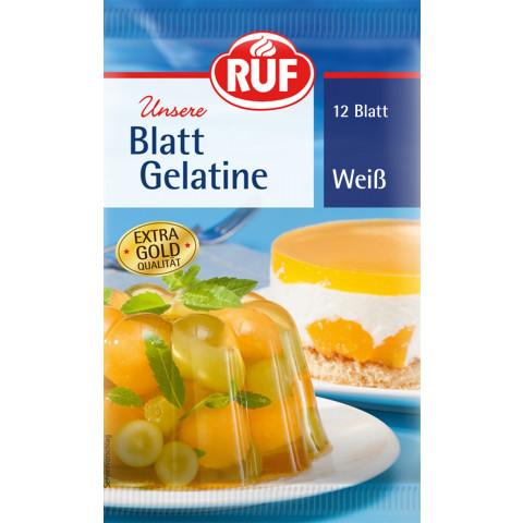 Ruf Blattgelantine Weiss 20 g