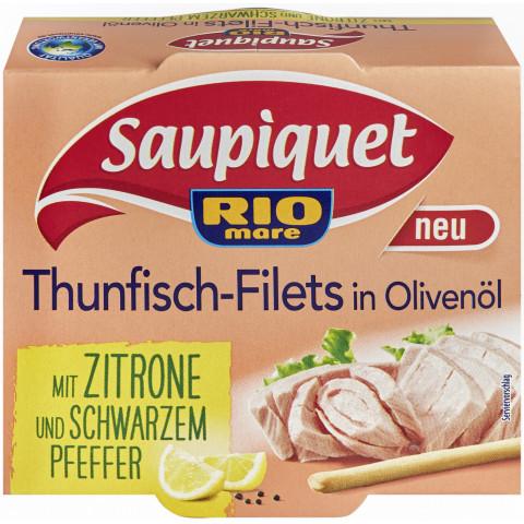 Saupiquet Thunfisch-Filets in Olivenöl mit Zitrone und schwarzem Pfeffer 130 g