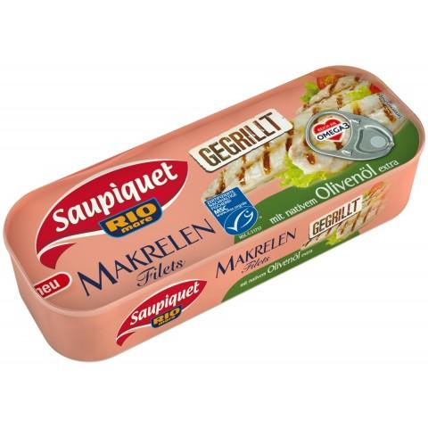 Saupiquet Gegrillt Makrelen Filets mit nativem Olivenöl extra