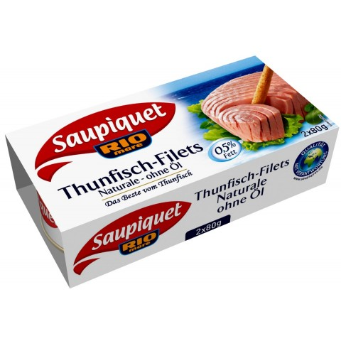 Saupiquet Thunfisch-Filets Naturale ohne Öl 2x 80 g